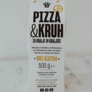 Brezglutenska zmešanica za pripravo kraljevega testa za pizzo in kruh brez glutena